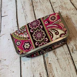 Vera Bradley Kisslock Small Cosmetic Bag
